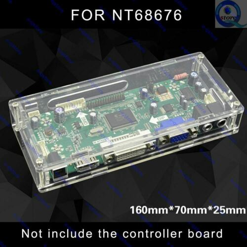 Acrylic Plastic Shell Case Enclosure Box Protector for NT68676 Controller Board
