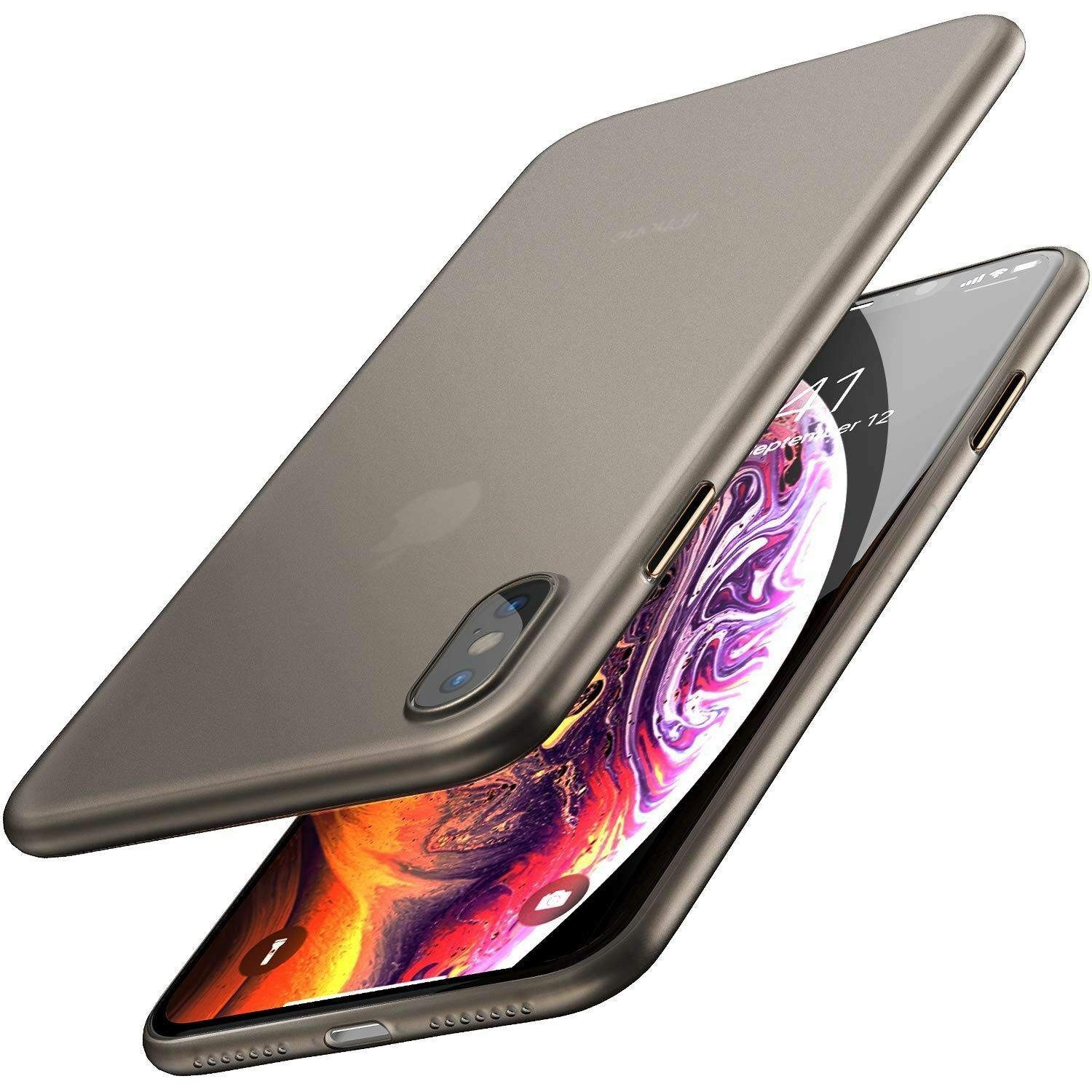 TOZO for iPhone XS Case 5.8 Inch (2018) Ultra-Thin Hard Cover Slim Fit 0.35mm