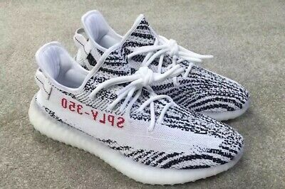 Details about adidas Yeezy Boost 350 V2 Zebra Men's Athletic Shoes Size 11 White