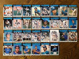 1986-SEATTLE-MARINERS-Topps-COMPLETE-Baseball-Team-SET-30-Cards-LANGSDON-THOMAS