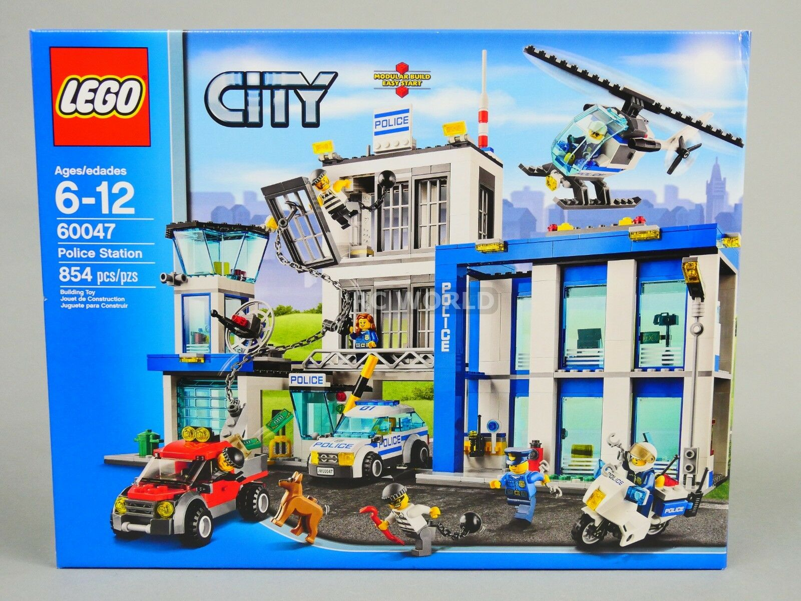 Lego city police station 60047 (854 pcs)   oobt