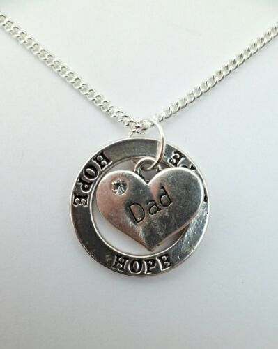925 STERLING SILVER NECKLACE HOPE CIRCLE Family Charm Pendant Birthday Gift Bag