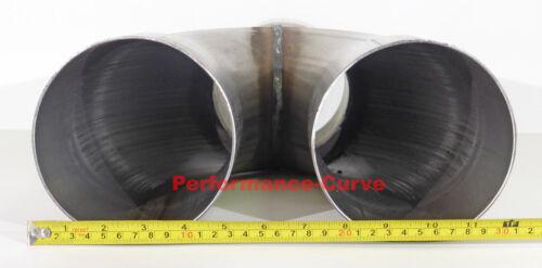 """5/"""" Y Pipe Stainless Steel Universal Custom Performance Exhaust Diesel 5/"""""""