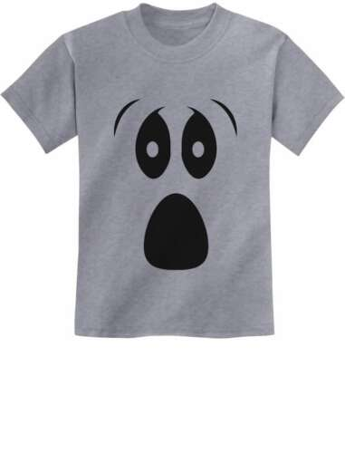 Funny Ghoul Face Halloween Ghost Costume Youth Kids T-Shirt Spooky