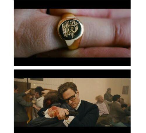 Kingsman The Secret Service Brass Movie Signet Ring Handmade Limited