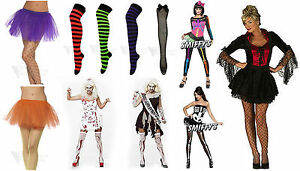 Womens-Adult-Fancy-Dress-Halloween-Costume-Zombie-Gothic-Nurse-Sexy-Tutu-Socks
