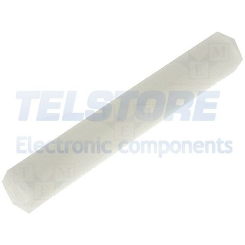 5pcs  Distanziale PCB filettati esagonale plastica M4 40mm TELSTORE
