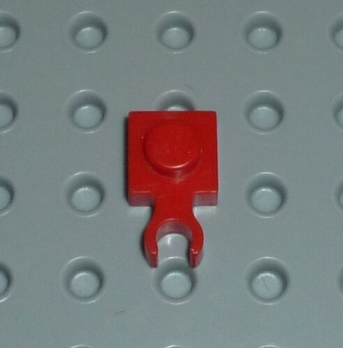 PM50 PLATE LEGO Modified 1 x 1 with Clip Vertical Type 1 4085a RED x 2