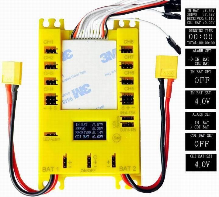 connotazione di lusso low-key Rccskj Mini energia energia energia DP UBEC 4.8-9.7V Servo Section tavola w  Dual Input  E4105  edizione limitata a caldo