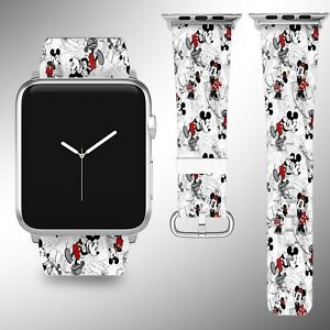 Mickey Mouse Apple Watch Band 38 40 42 44 Mm Series 5 1 2 3 4 Wrist Strap 4 R Ebay
