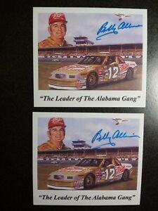 BOBBY ALLISON Authentic 2 Hand Signed Autograph PHOTO CARD'S - NASCAR LEGEND