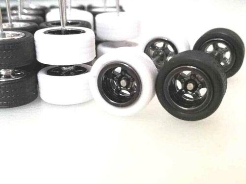 """Limited Stock/"""" 20 ensembles JDM Hot Wheels 5 Spoke Caoutchouc Pneu Mix 4 Couleurs"""