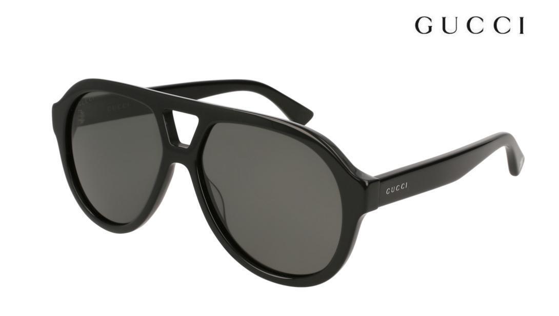 170015397ce Sunglasses Gucci Original Gg0159 s 001 56-14 Black Grey for sale ...