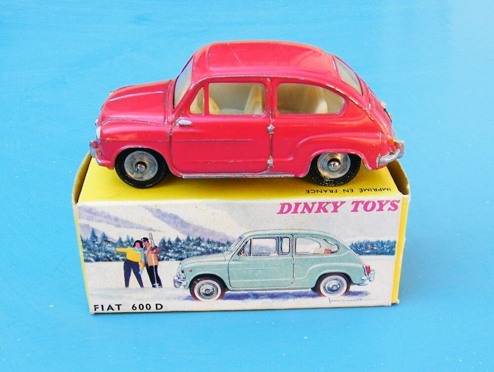 FRENCH DINKY TOYS 520 FIAT 600 D RED ORIGINAL EX