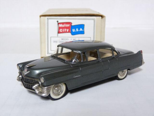 Motor City USA MC2 1/43 1955 Cadillac Fleetwood Handmade White Metal Model Car