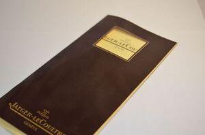 Jaeger Lecoultre Katalog Catalogue 1986 Mit Preisliste Rar Starke Verpackung