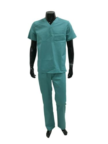 Male Scrubs Set Nursing Medical Doctor nurse Uniform Short Sleeve 8+ POCKETS