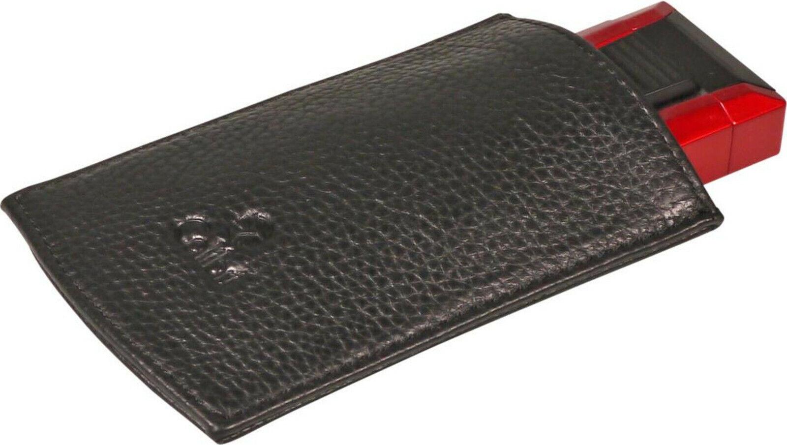 Colibri black leather bag for colibri lighter and cutter colibri