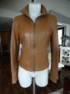 DANIER-TAN-ITALIAN-LEATHER-JACKET-XS