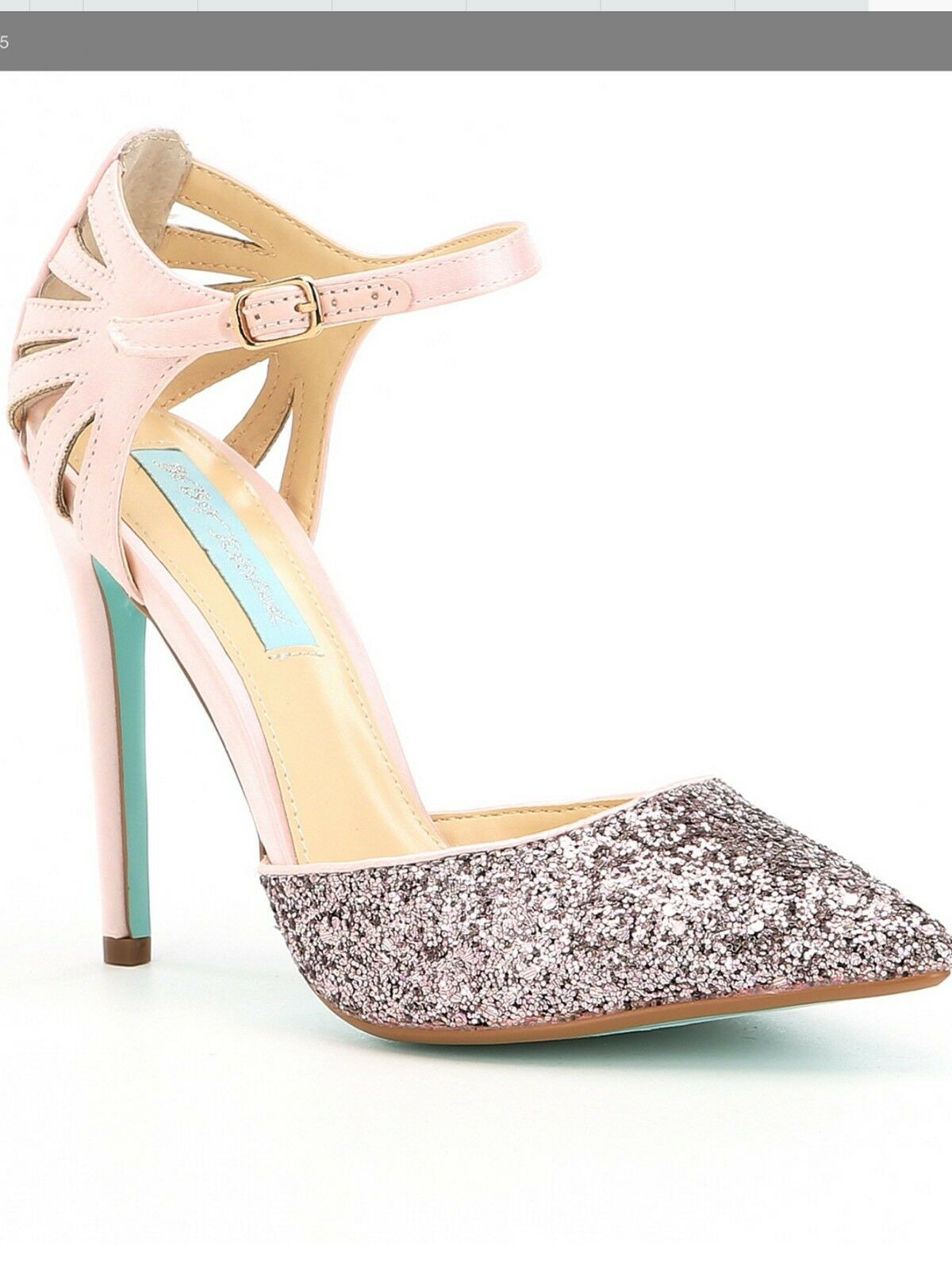 Nya Betsey Johnson Glam Glam Glam hög klack Avery Dress Sandals Hälar 7.5  butikshantering