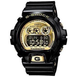 Casio-Men-039-s-G-Shock-XL-Metallic-Black-Gold-GDX6900FB-1