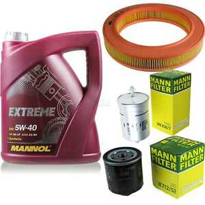 MANNOL-5-L-Extreme-5W-40-Motor-Ol-MANN-Filter-VW-Polo-86C-80-1-0-Cat-Coupe-86CF