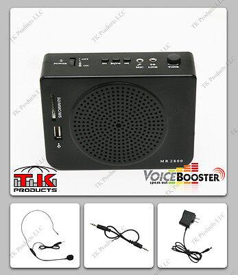 VoiceBooster Loud Portable Voice Amplifier 16watt (Aker) MR2800 Mp3 FM