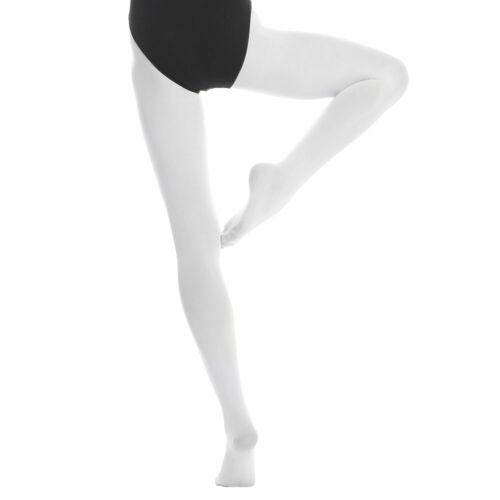 Womens Dance Tight Full Foot Opaque Matte Footed Ballet Performance Tights