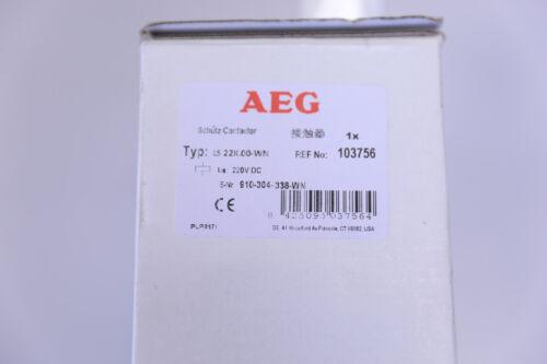 AEG Schütz LS 22K 00-WN  220 V  DC