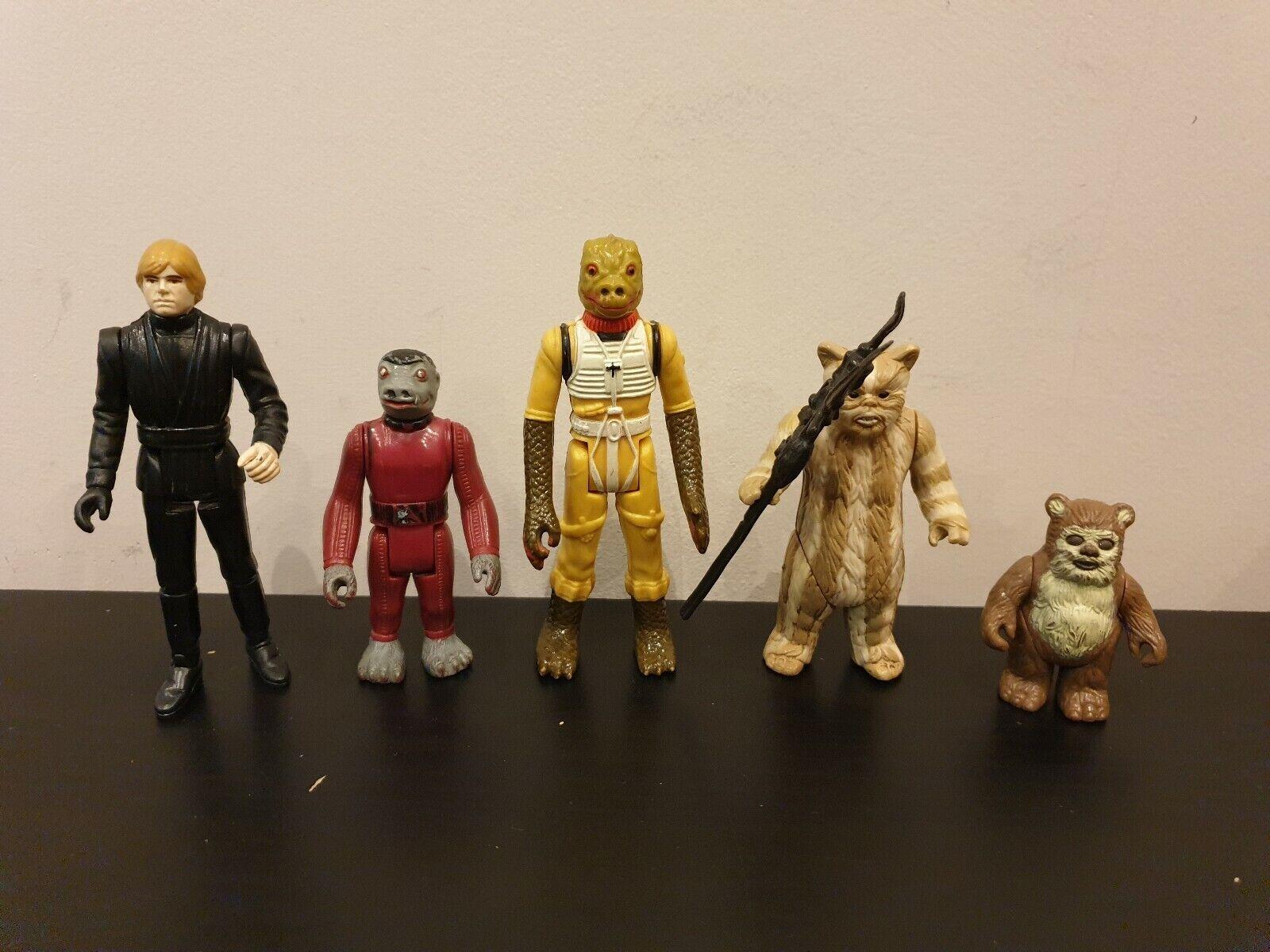 Vintage Star Wars Figures  x5  livraison gratuite et échanges.