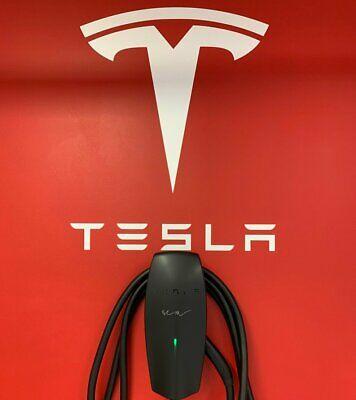 Tesla Logo Wall Decal Luxury Sport New Modern Car Decor Art Mural Vinyl Sticker
