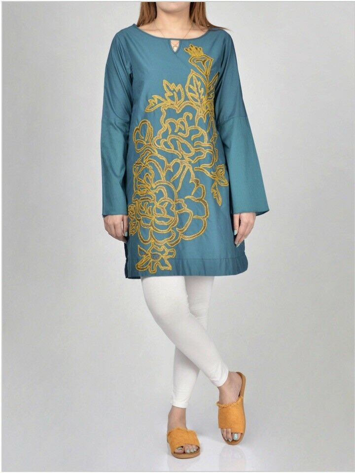 Limelight Original-2019-Shirt-Embroidered Cambric Shirt-Pakistani Wear Size M&L
