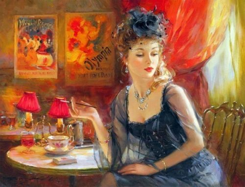 ZOPT833 fashion girl in home portrait hand paint art OIL PAINTING on CANVAS