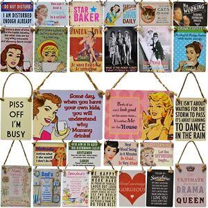 Mini-Metal-Novedad-Retro-Vintage-Placa-Letreros-Papa-Mama-Vino-Cerveza-AMOR