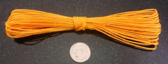HEMP beading cord 30ft YELLOW .5-1mm create necklaces woven lace 9.15 meter M108