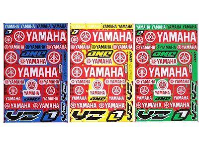New Yamaha Motorcycle Racing R1 R6 Raptor Dirt Bike Vinyl Decals//Stickers set3