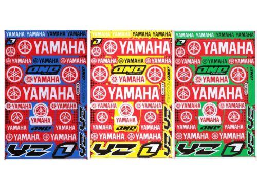 New Yamaha Motorcycle Racing R1 R6 Raptor Dirt Bike Vinyl Decals//Stickers