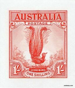 Australia-Replica-Card-20-1-Lyrebird-1932-Die-Proof