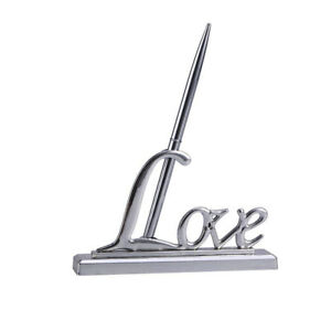 Wedding-Reception-Signing-Pen-Plated-Metal-LOVE-Pen-Seat-Holder-Table-Decor