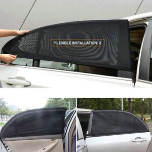 2X-Car-Rear-Side-Window-Sun-Visor-Shade-Mesh-Cover-Shield-UV-Sunshade-Protector