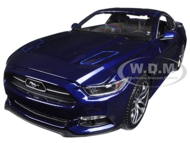 2015 FORD MUSTANG GT blueE EXCLUSIVE EDITION 1 18 DIECAST MODEL BY MAISTO 38133