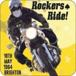 The Original Metal Sign Co Melamine Coaster Rockers Rule Vintage Style Advert