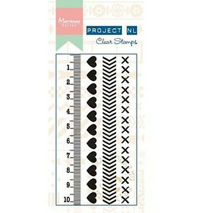 Motiv-Stempel-Clearstamps-Bordueren-Herzen-Filofax-Hearts-Marianne-Design-PL1503