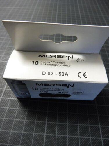 10 x Mersen ferraz Shawmut copia de seguridad conjunto de ser d02 gg40v50
