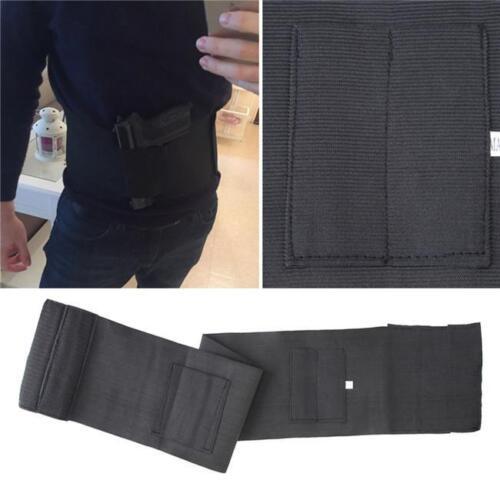 Men Women Belly Band Gun Holster Concealed Carry Pistol Waist Magazine Holder MA