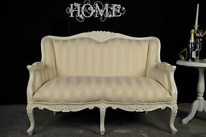French Louis Style Sofa Bridal Salon With Carved Detailing in Regency White - <span itemprop=availableAtOrFrom>Moulton North Yorks, United Kingdom</span> - Returns accepted Most purchases from business sellers are protected by the Consumer Contract Regulations 2013 which give you the right to cancel the purchase within 14 days af - Moulton North Yorks, United Kingdom