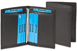 Rimbaldi-Kreditkartenetui-amp-Ausweishuelle-in-einem-aus-feinem-Leder-in-Schwarz