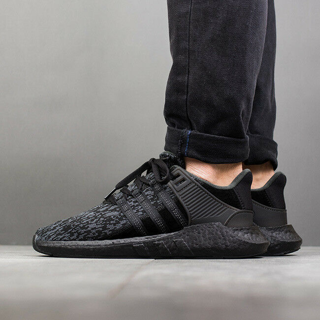 Adidas EQT 93/17 size 11. Triple Black . BY9512. Primeknit. ultra boost nmd