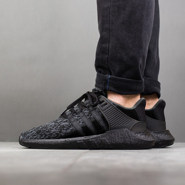 catch good quality details for Adidas EQT 93/17 size 12.5. Triple Black . BY9512. Primeknit. ultra boost  nmd