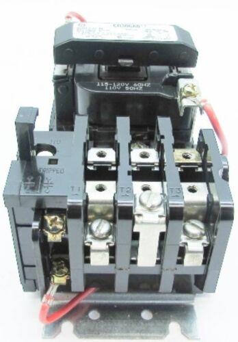 New GE CR306A002 Size 00 Motor Starter 9A 600V 120V Coil CR306A0** NIB